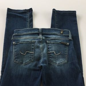 7 for all mankind straight leg 24 med wash jeans